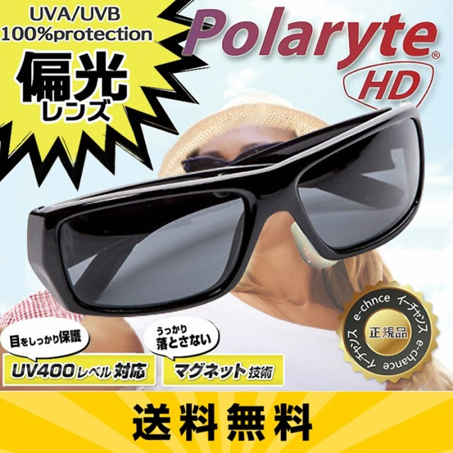 【送料無料】 ポラライトHDサングラス ブラック