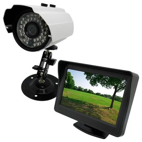 Broadwatch 屋外カメラ+LCDモニター防犯セット 4...