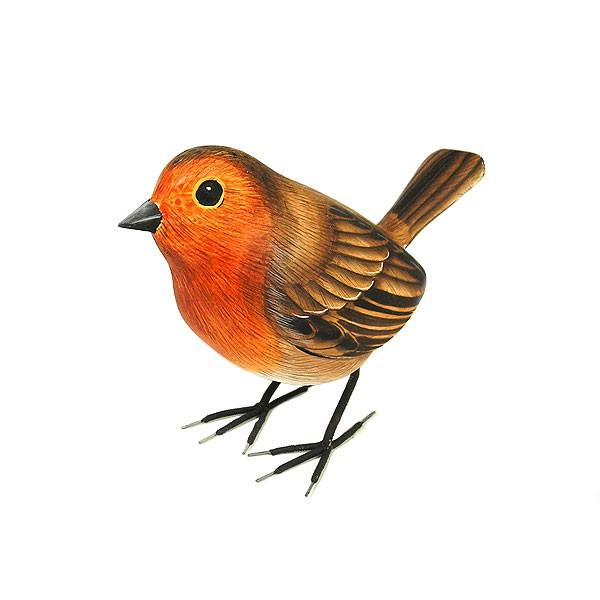 木彫りの小鳥たち A [小鳥約13cm]ハンドメイドア...