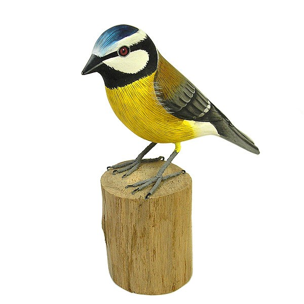 木彫りの小鳥たち C [小鳥約13cm]ハンドメイドア...