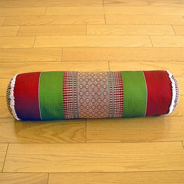 タイの枕 ごろ寝枕 [直径約13cm×50cm] グリーン...