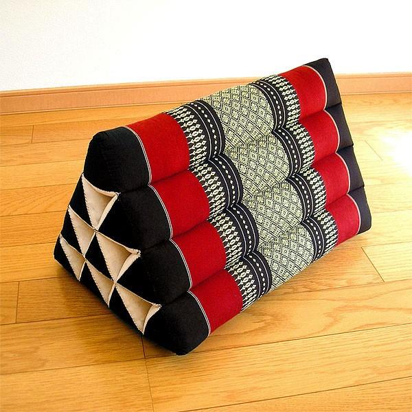 タイの三角枕(マット無し)腰掛クッション ブラ...