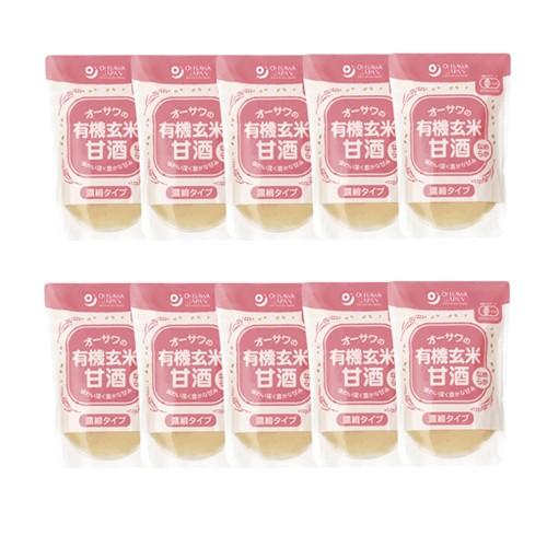 オーサワの有機玄米甘酒(なめらか) 200g×10袋