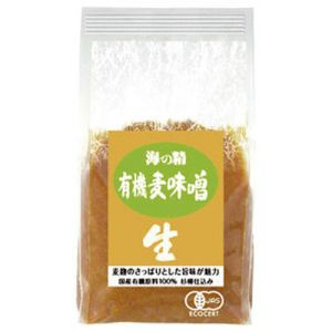 海の精 国産有機 麦味噌 1kg 【麦みそ】