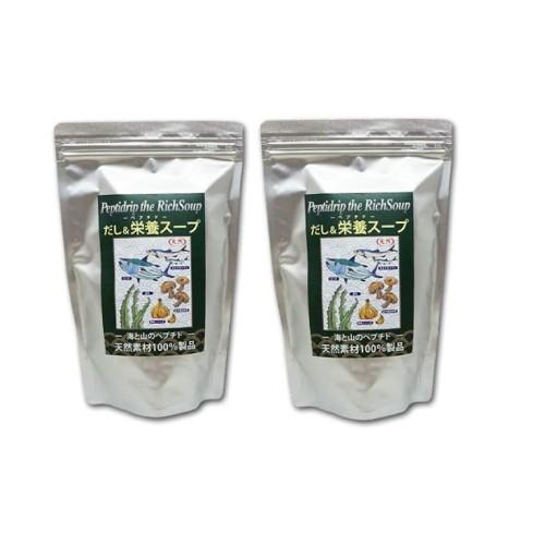 天然ペプチドリップ だし&栄養スープ 500g×2袋セ...