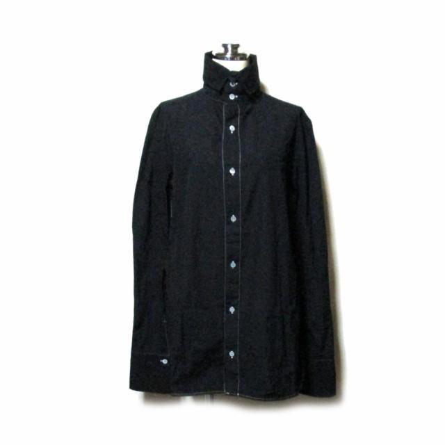 Y's ワイズ「3」高襟デザインブラウス (黒 シャツ...