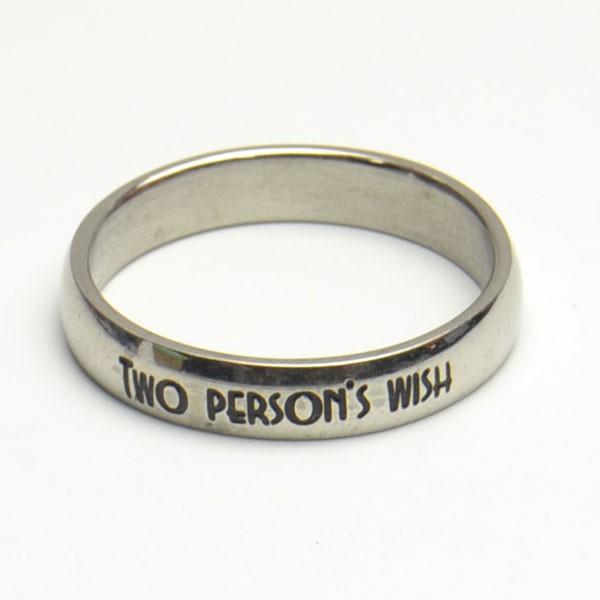 メッセージ ステンレスリング two persons wish...