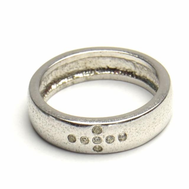 クロス ラインストーン リング 指輪 レディース ...