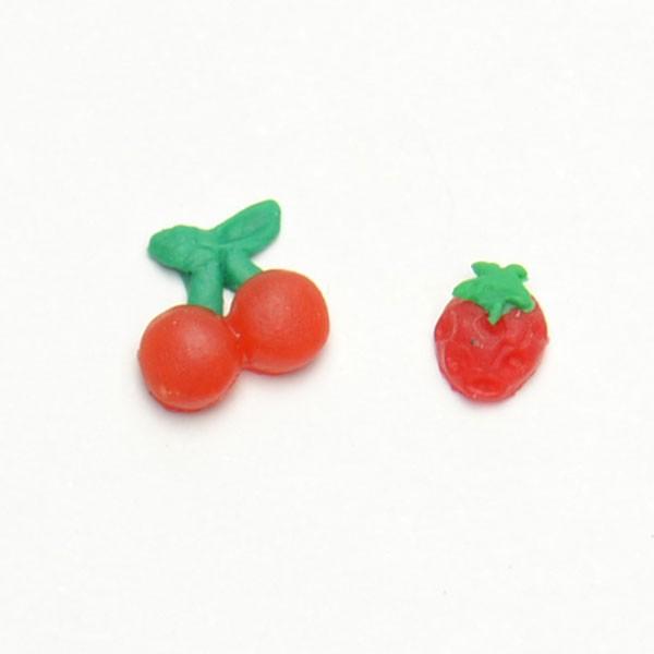 ミニイチゴ さくらんぼパーツモチーフ キラキラ...