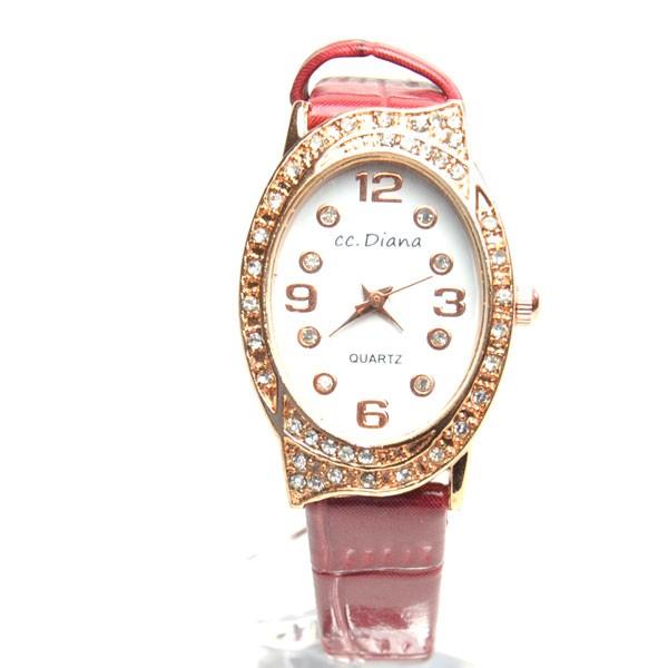 腕時計 電池式クォーツ サークル 細皮ベルト ...