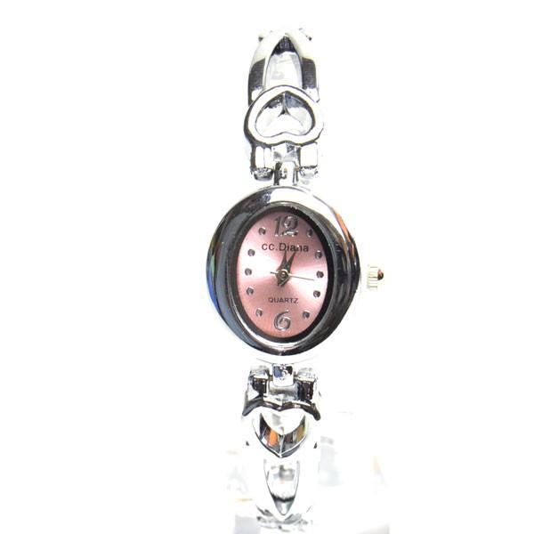 腕時計 電池式クォーツ ピンクオーバル ドレス...
