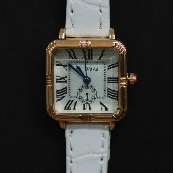 腕時計 電池式クォーツ レディスウォッチ  ホワ...