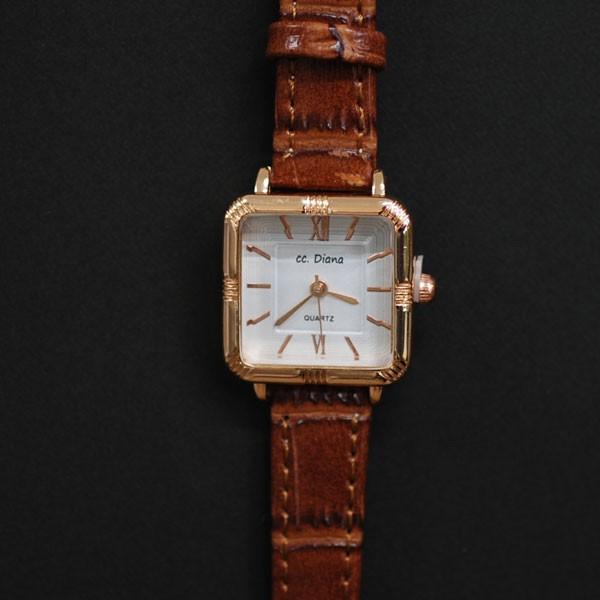 腕時計 電池式クォーツ レディスウォッチ  ブラ...