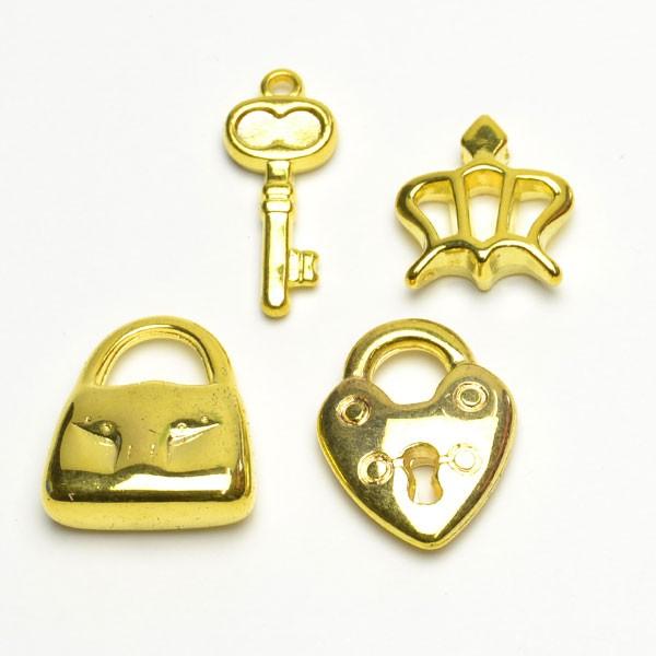 シンプル ABS樹脂 特殊鍍金 軽い ゴールド鍍...