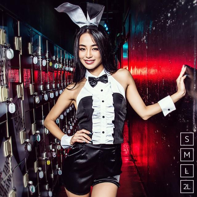 【即納】バニー 4点セット(トップス、パンツ、カ...