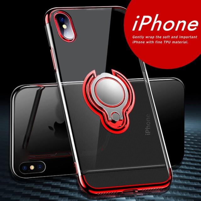 iPhone XS スマホ ケース  バンカーリング 付き ...