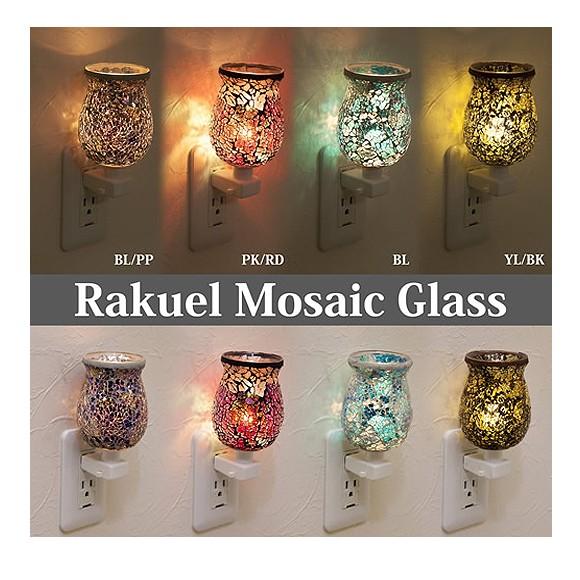 ラケルモザイクガラス コンセントランプ 全4色