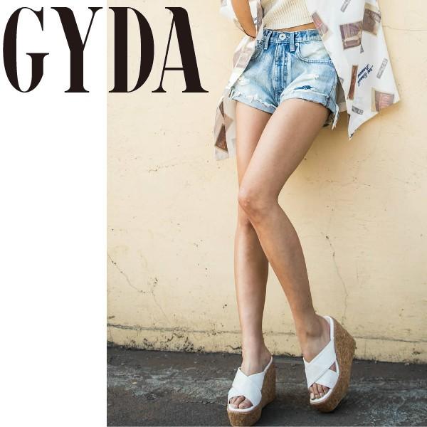 GYDA ジェイダ リメイクJ/Wデニムショーパン【201...