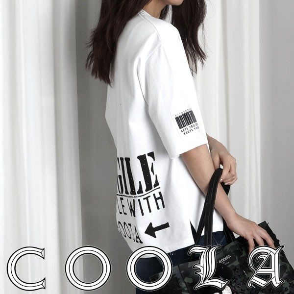 COOLA クーラ Fragile Print BIG Tee レディース...