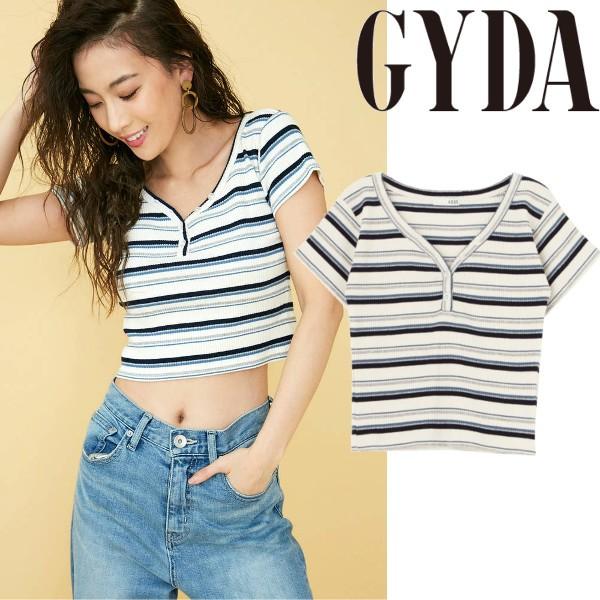 GYDA ジェイダ ヘンリーネックT Tシャツ【2018S...