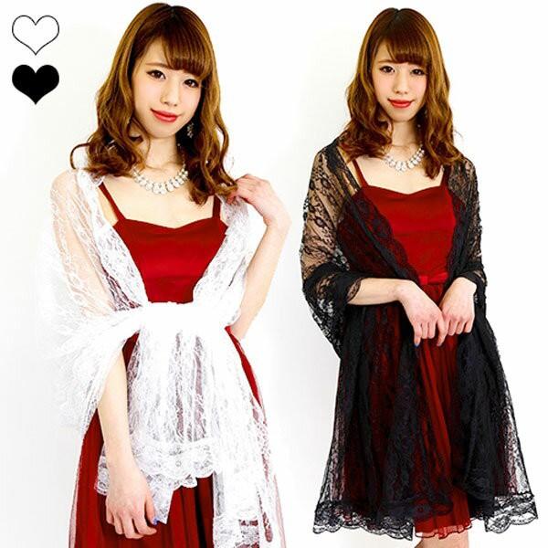 ショール 総フラワーレースショール 2697 ドレス ...