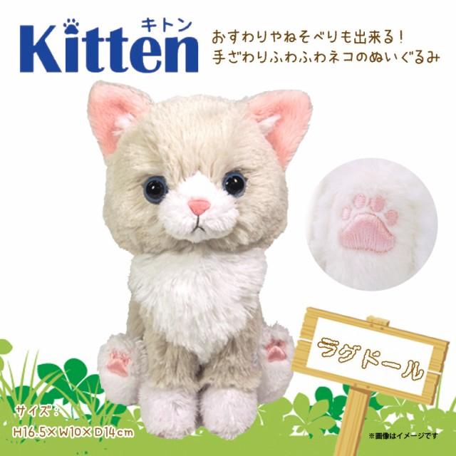 ぬいぐるみ 猫 キトン ラグドール Kitten【P1352...