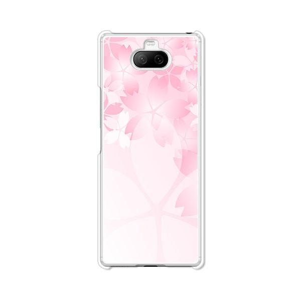 au Xperia 8 sov42 ハードケース/カバー 【桜咲く...