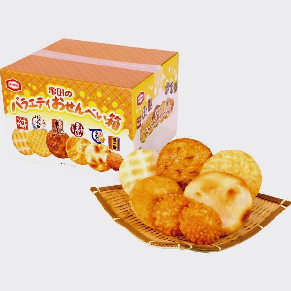 煎餅亀田のバラエティおせんべい箱お歳暮 ギフト...