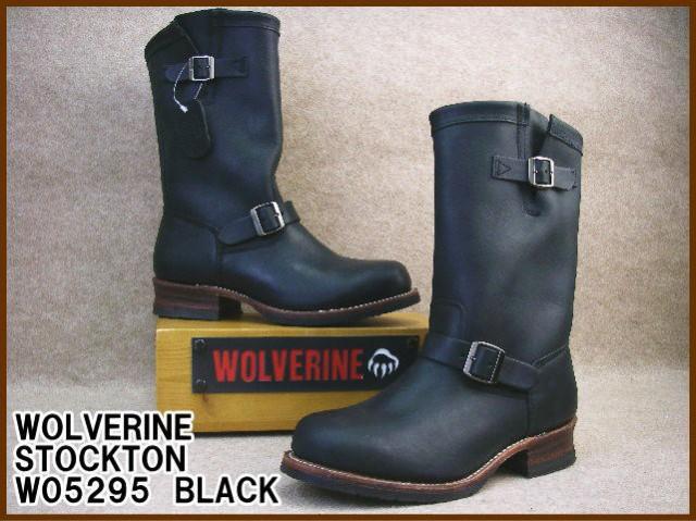 メンズ エンジニアブーツ ウルヴァリン WOLVERINE W05295 送料無料 靴 ストックトン ブラック カジュアル