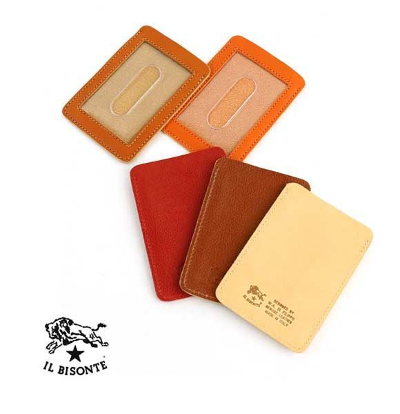 イルビゾンテ 正規品  新品 レザー カードケース 定期入れパスケース メール便可能1 レディース 女性 誕生日プレゼント ギフト IL BISONT