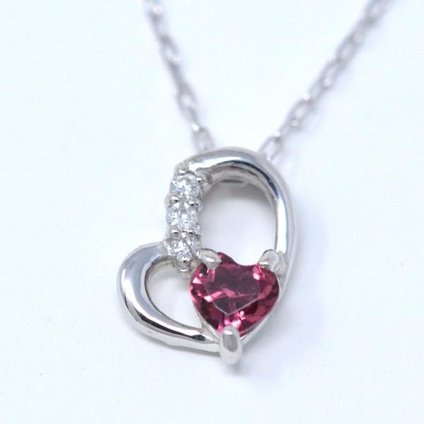 ピンクトルマリン ダイヤモンド 10月誕生石 Heart...
