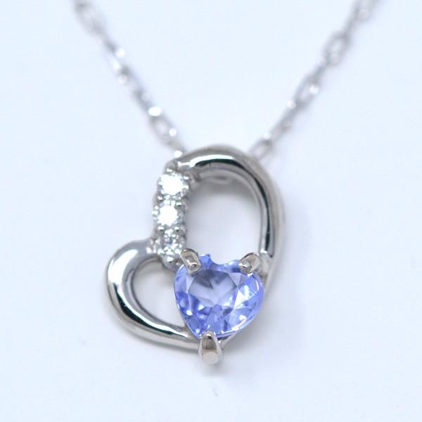 タンザナイト ダイヤモンド 12月誕生石 Heart in ...