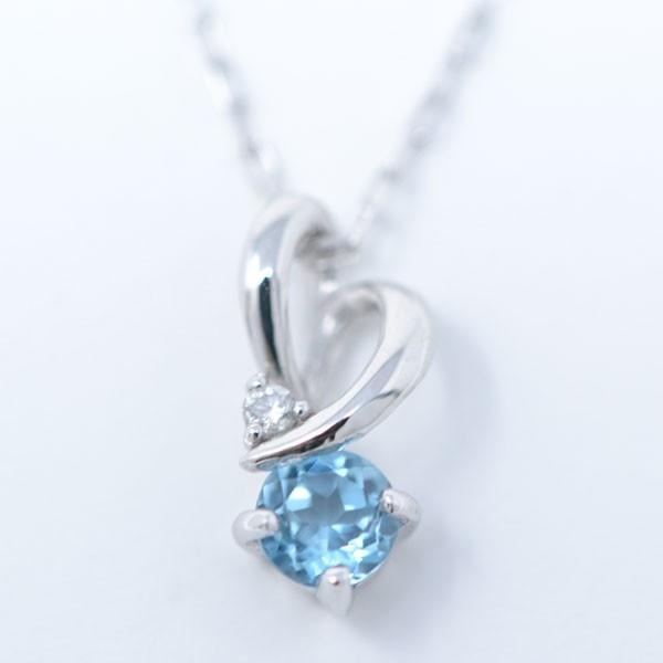 ブルートパーズ ダイヤモンド 11月誕生石 ペンダ...