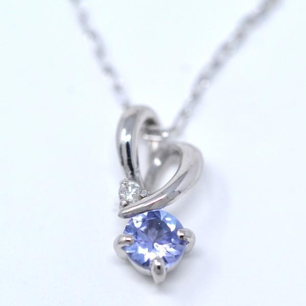 タンザナイト ダイヤモンド 12月誕生石 ペンダン...
