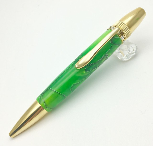 F-STYLE Acrylic & Ring Green スワロフスキー To...