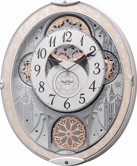 リズム時計工業 からくり 電波 壁掛け時計 スモー...