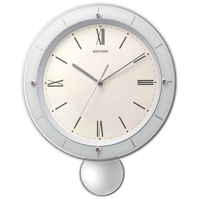 リズム時計工業 RHYTHM 電波 壁掛け時計 ソフレー...