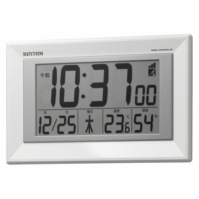 リズム時計工業 RHYTHM 電波 壁掛け時計 置き兼用...