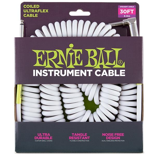 Ernie Ball 6045 30' COILED STRAIGHT/ANGLE INS...