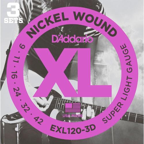 D'addario EXL120-3D【3パックセット】ダダリオ...
