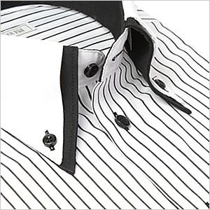 襟高デザイン ドレスシャツ (ダブルカラー・ダブ...