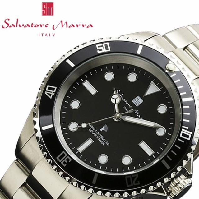 サルバトーレマーラ 腕時計 SalvatoreMarra 時計 メンズ ブラック SM16103-SSBKBK [ 人気 ブランド おすすめ おしゃれ かっこいい ソーラ
