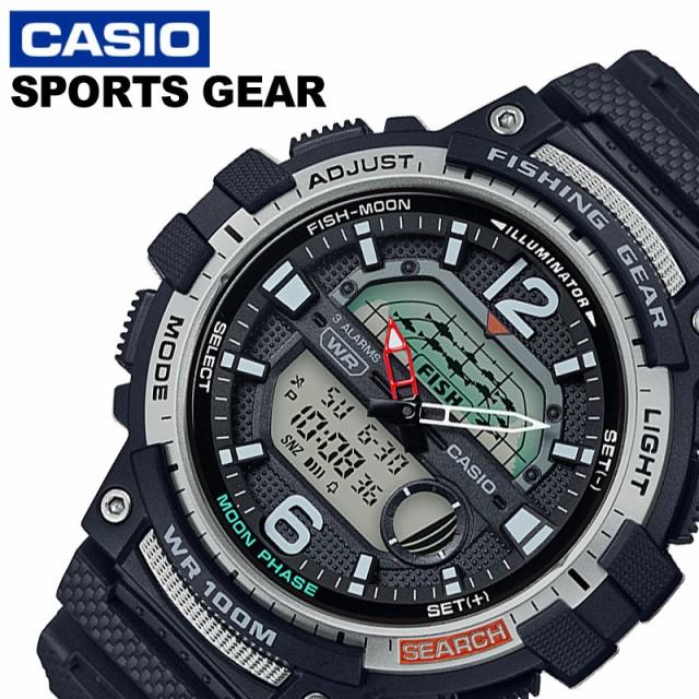 カシオ 腕時計 CASIO 時計 スポーツギア Sports gear メンズ グレー WSC-1250H-1AJF [ 人気 ブランド 防水 ムーンデータ 釣り フィッシン