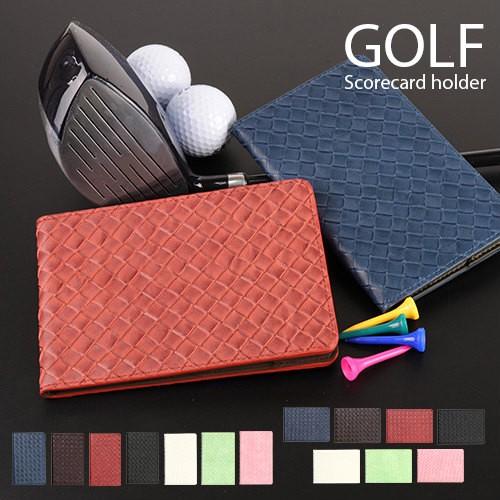 ゴルフ スコアカードホルダー スコアカードケース...