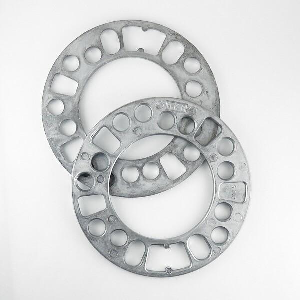 HKB/東栄産業 ホイールスペーサー シルバー 5mm 4...