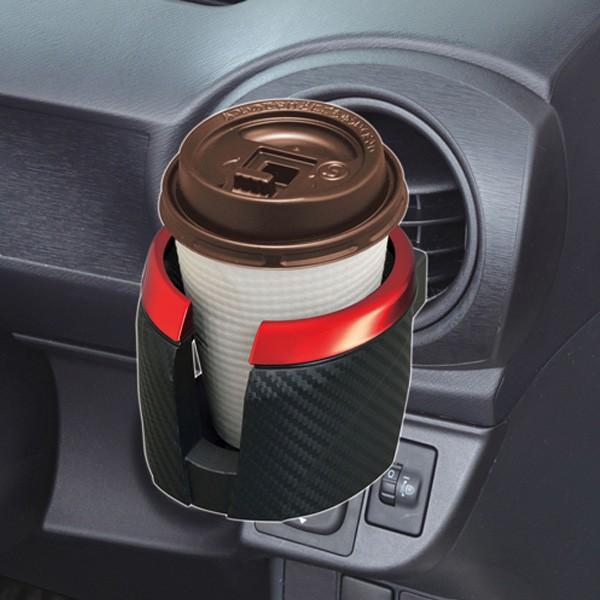 セイワ:ドリンクホルダー 車 エアコン カーボン ...