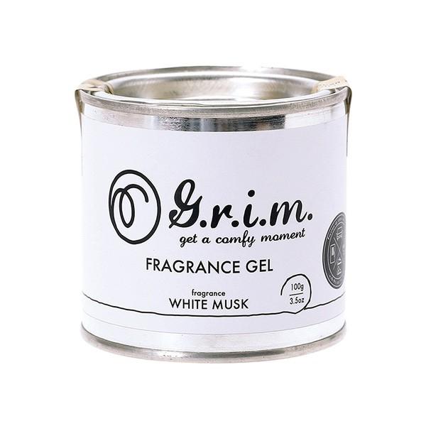 芳香剤 車 G.r.i.m. Gel Air Freshener ホワイト...