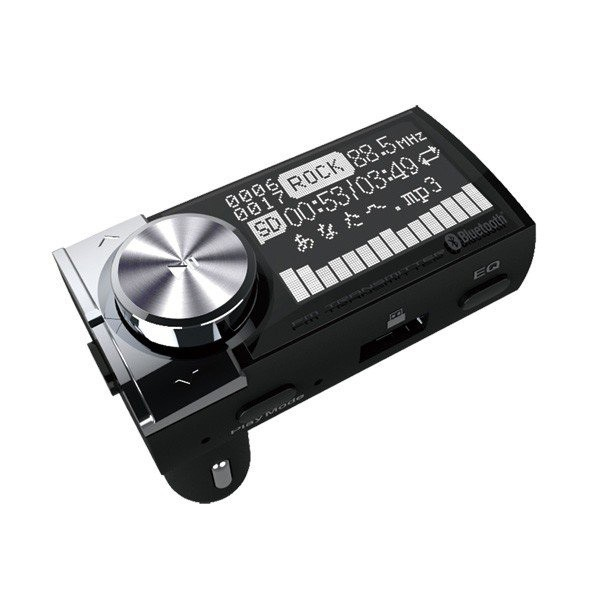 Bluetooth4.1 FMトランスミッター 車 曲名を表示 ...