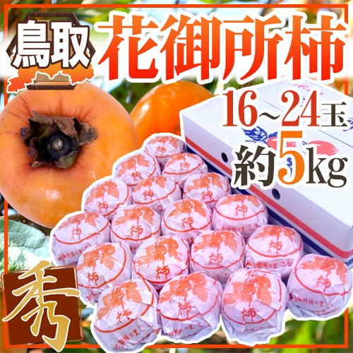 """【送料無料】鳥取産 """"花御所柿"""" 秀品 16〜24玉 ..."""