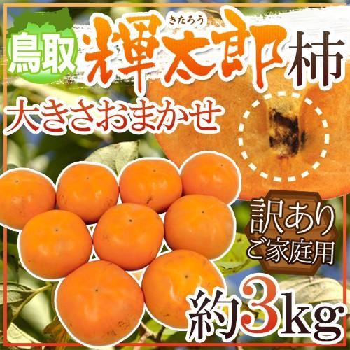 """鳥取産 """"輝太郎柿"""" 訳あり 約3kg 大きさおまかせ【予約 10月以降】 送料無料"""